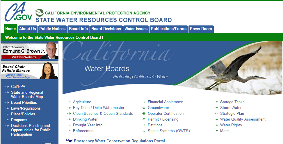 StateWaterBoardHomePage