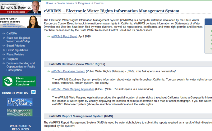 Water_Board_eWRIMS_screenshot